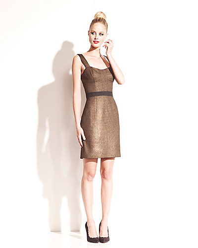 STRUCTURED GOLD DRESS GOLD