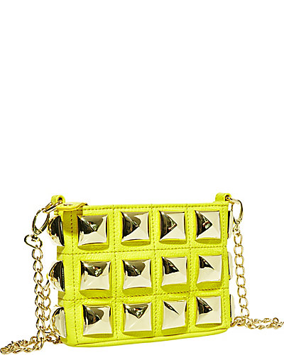 STUD MUFFIN CROSSBODY YELLOW