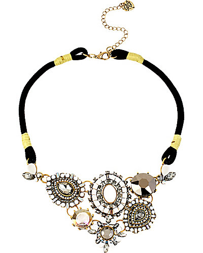 SUMMER BLAST BLACK WHITE NECKLACE BLACK-WHITE