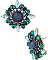 SUMMER BLAST BLUE BUTTON EARRING BLUE