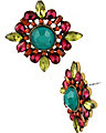 SUMMER BLAST MULTI BUTTON EARRING MULTI