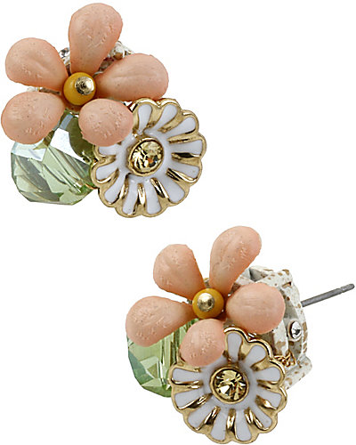 SUMMER OF LOVE FLOWER STUD EARRING MULTI