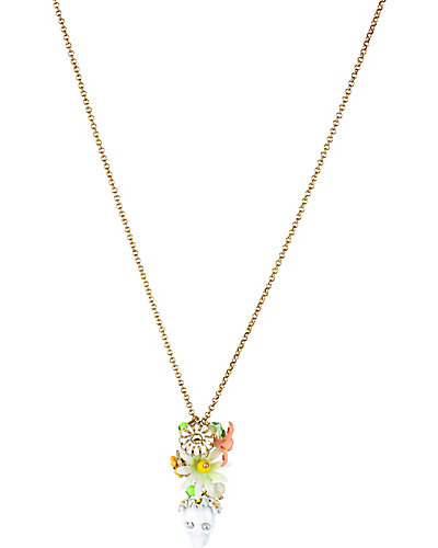 SUMMER OF LOVE SKULL FLOWER PENDANT MULTI