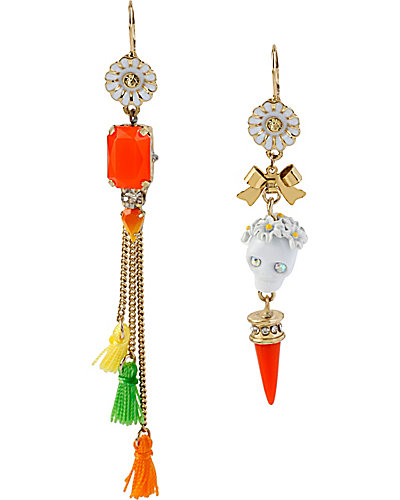 SUMMER OF LOVE SKULL FRINGE EARRING MULTI