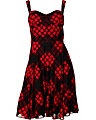 SWEETHEART PLAID DRESS BLACK RED