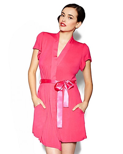 SWEETHEART RAYON KNIT WRAP HOT PINK