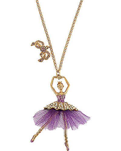 TERRIFIC TUTU BALLERINA PENDANT PURPLE