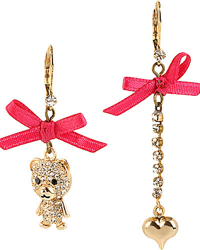 TERRIFIC TUTU BEAR EARRING PINK