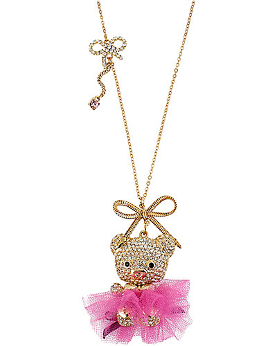 TERRIFIC TUTU BEAR PENDANT PINK