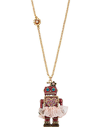 TERRIFIC TUTU ROBOT PENDANT FUSCHIA