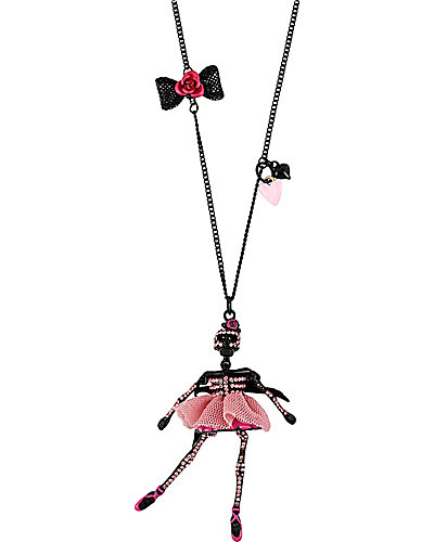 TERRIFIC TUTU SKELTON PENDANT PINK