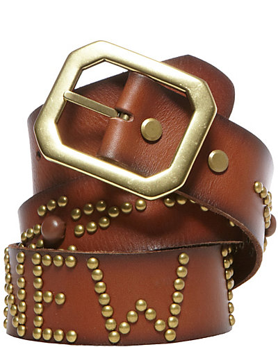 THE BETSEY NEW YORK BELT COGNAC