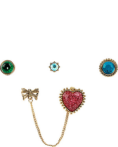 THE EYES HAVE IT 5 PIECE STUD SET MULTI