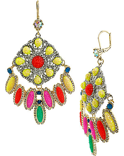 THE EYES HAVE IT CHANDELIER EARRING MULTI