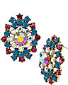 THE EYES HAVE IT CLUSTER BUTTON EARRING MULTI