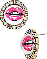 THE EYES HAVE IT LIPS STUD EARRING MULTI