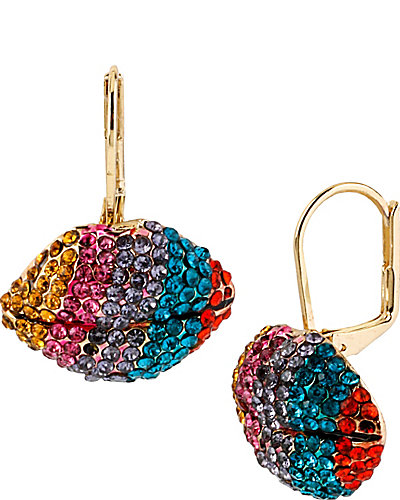 THE EYES HAVE IT PAVE LIPS EARRING MULTI
