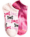 TIE DYE TWO PACK NO SHOW SOCK PINK
