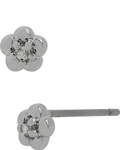 TINY CZ FLOWER STUD CRYSTAL