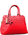 TOTALLY TONAL DOME SATCHEL RED