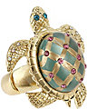 TURTLE STRETCH RING GREEN