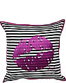 VA VA VOOM LIP EMBROIDERED PILLOW PURPLE