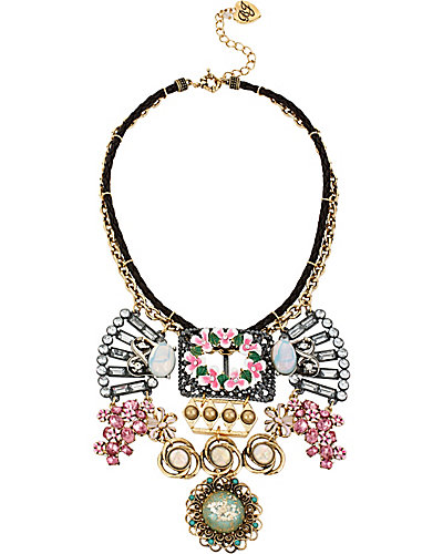 VINTAGE BUCKLE FLOWER NECKLACE MULTI