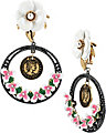 VINTAGE FLOWER COIN EARRING WHITE