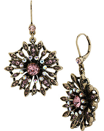 VINTAGE FLOWER DROP EARRING PINK