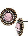 VINTAGE PINK BUTTON EARRING PINK