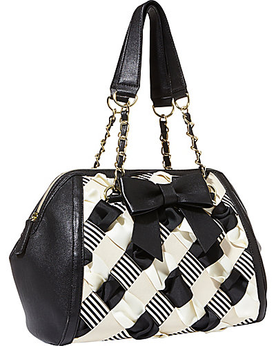 WEAVE ON SATCHEL BLACK