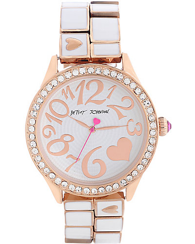 WHITE AND ROSE GOLD WATCH WHITE