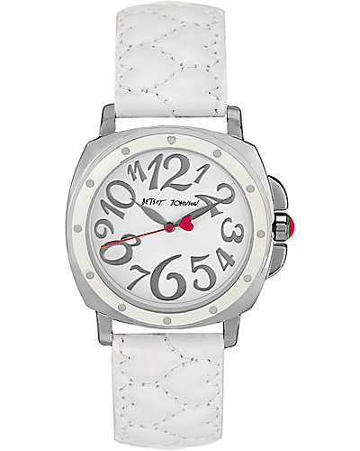 WHITE HEART STRAP WATCH WHITE