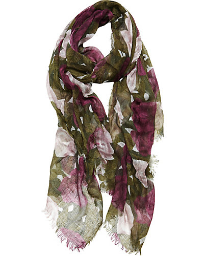WICKED ROSE GAUZE SCARF PURPLE
