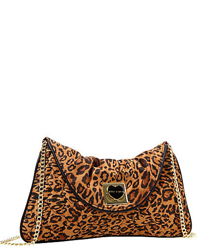 WILL YOU BE MINE CLUTCH LEOPARD