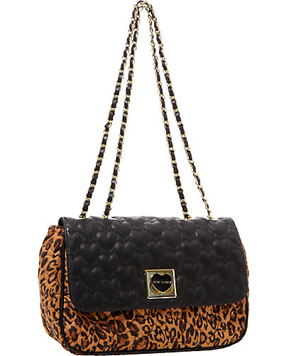 WILL YOU BE MINE FLAPOVER SATCHEL LEOPARD