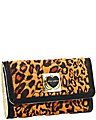 WILL YOU BE MINE FOLDOVER WALLET LEOPARD