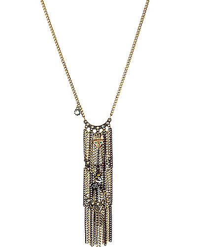 WOODLAND CRITTER FRINGE NECKLACE MULTI