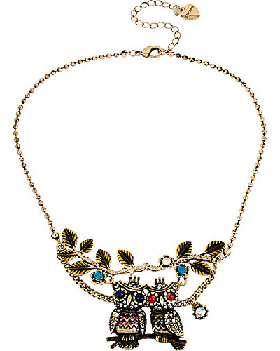 WOODLAND OWL BRANCH NECKLACE MULTI
