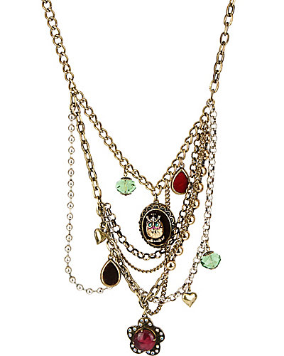 WOODLAND OWL MULTI CHAIN NECKLACE MULTI