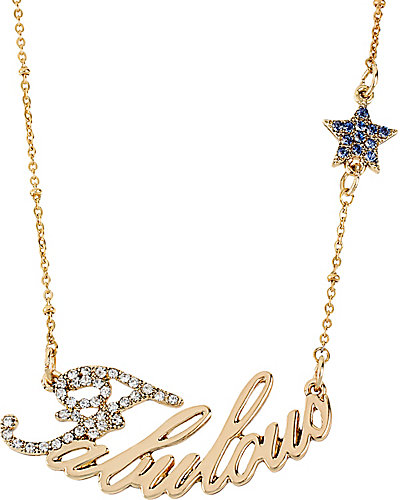 WORD NECKLACE FABULOUS WITH STAR GOLD