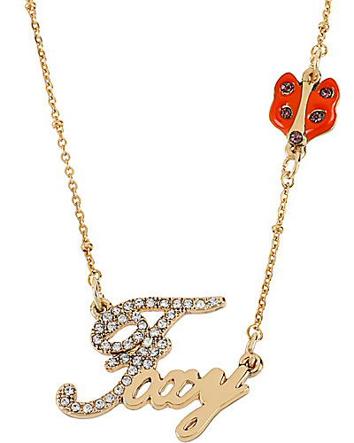WORD NECKLACE FOXY WITH FOX GOLD