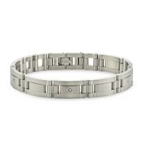 Stainless_Steel_Diamond_Bracelet,_8_1/2""