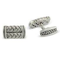 Scott_Kay_Sterling_Silver_Basketweave_Cufflinks