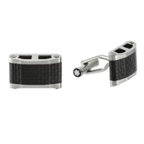 Montblanc_Stainless_Steel_Black_Carbon_Fiber_Inlay_Cufflinks