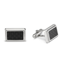 Sterling_Silver_and_Carbon_Fiber_Cufflinks