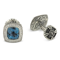 Scott_Kay_Sterling_Silver_Blue_Topaz_and_Diamond_Cufflinks