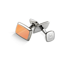 M-Clip_Tapered_Rectangle_Rose_Gold_Tone_Inlay_Cufflink