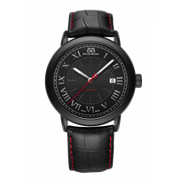 88_Rue_Du_Rhone_Black_Tone_Stainless_Steel_Automatic_Strap_Watch,_42mm