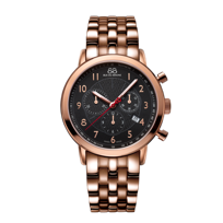 88_Rue_Du_Rhone_Rose_Tone_Stainless_Steel_Chronograph_Bracelet_Watch,_42mm